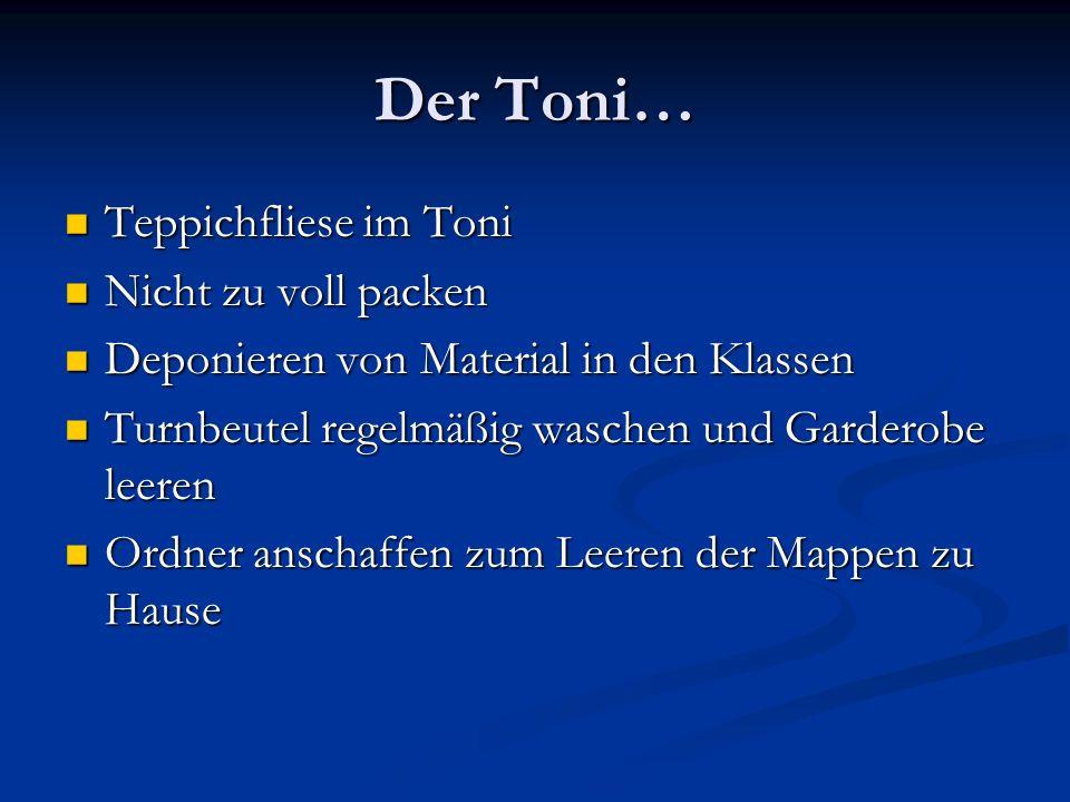 Der Toni… Teppichfliese im Toni Nicht zu voll packen