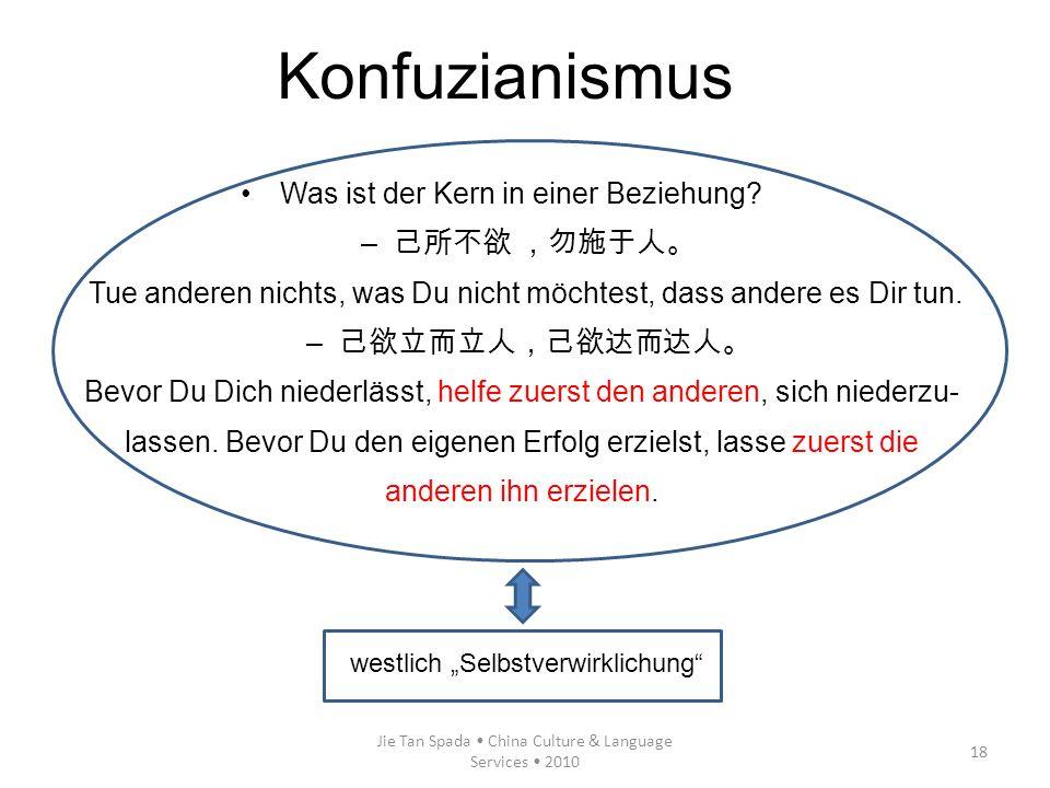 Konfuzianismus Was ist der Kern in einer Beziehung 己所不欲 ,勿施于人。