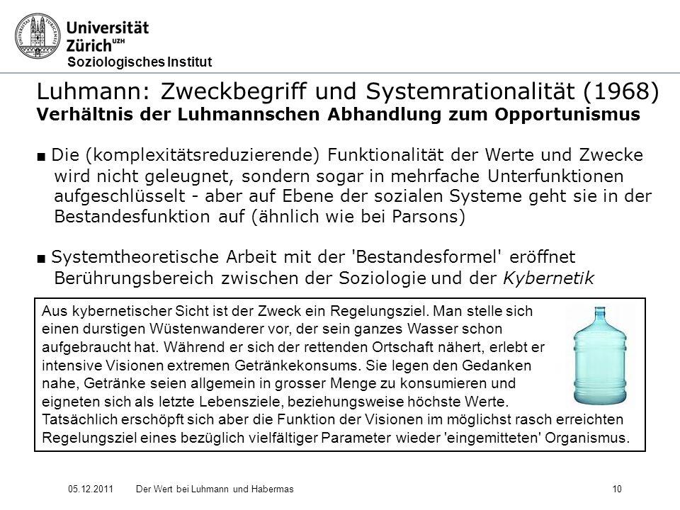 Luhmann: Zweckbegriff und Systemrationalität (1968)