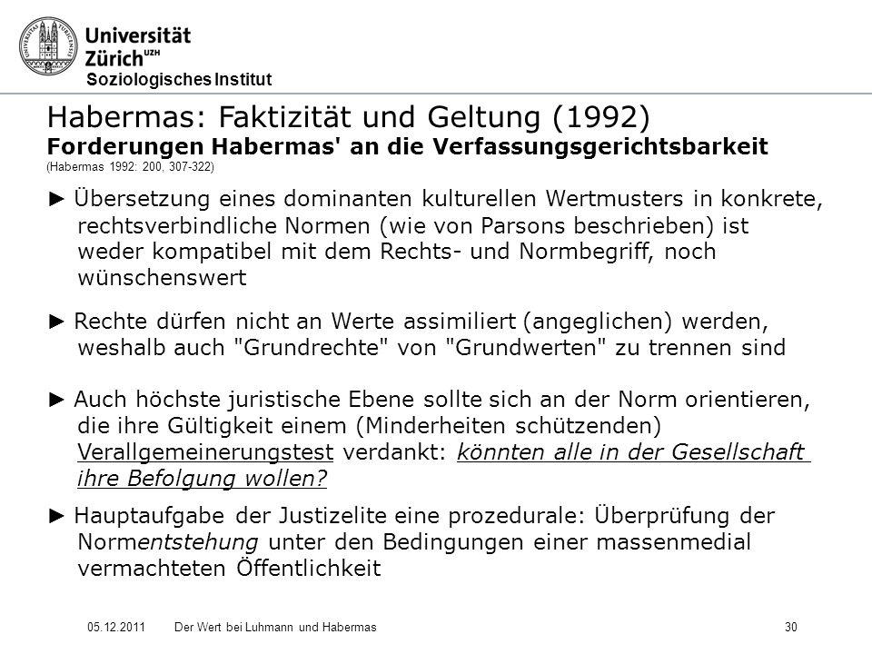 Habermas: Faktizität und Geltung (1992)