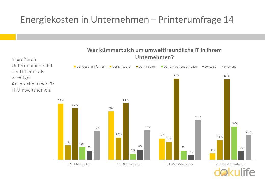 Energiekosten in Unternehmen – Printerumfrage 14