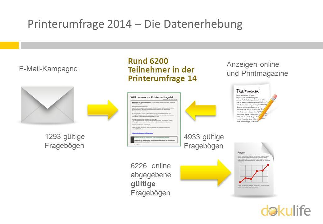 Printerumfrage 2014 – Die Datenerhebung