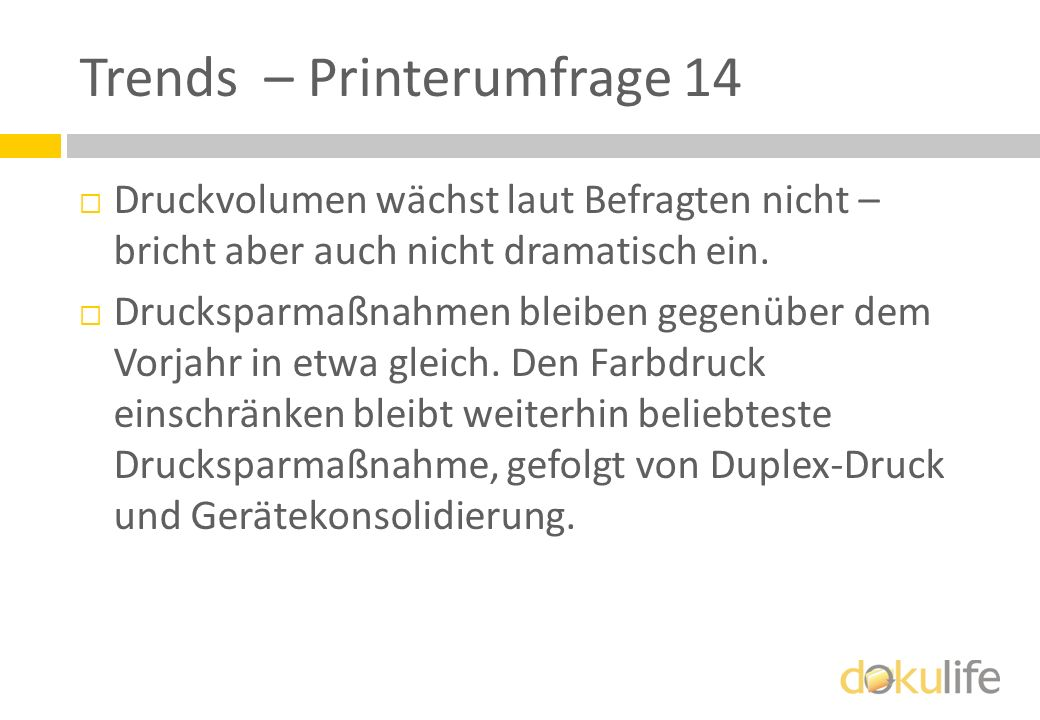 Trends – Printerumfrage 14