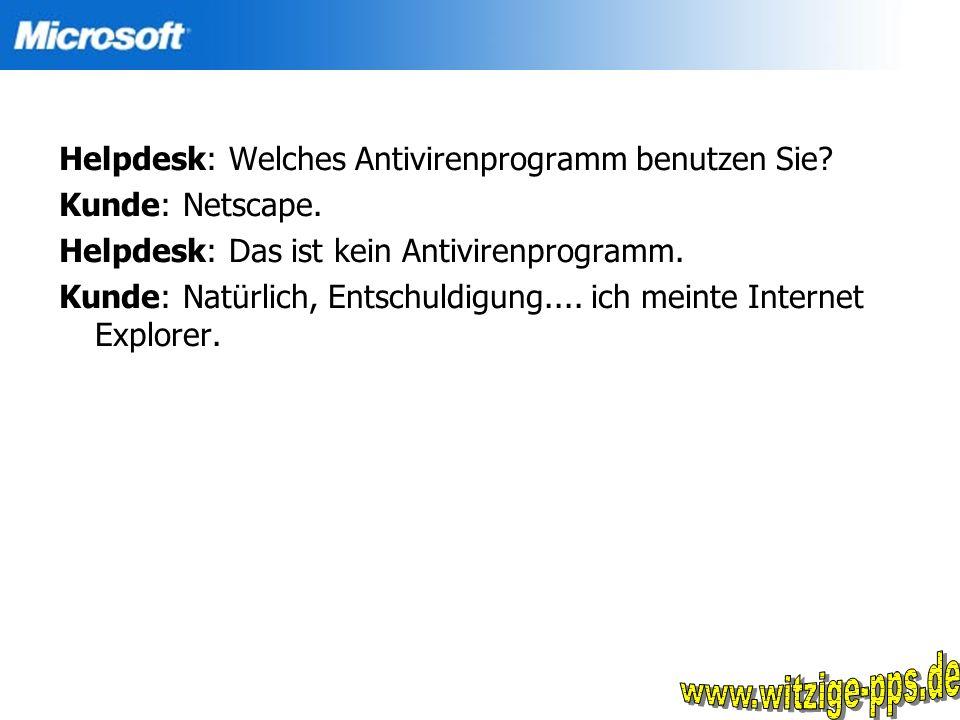 www.witzige-pps.de Helpdesk: Welches Antivirenprogramm benutzen Sie