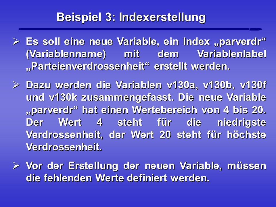 Beispiel 3: Indexerstellung