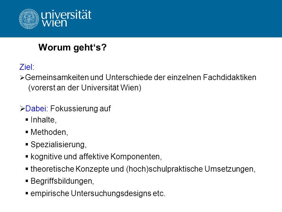 Worum geht's Ziel: (vorerst an der Universität Wien)