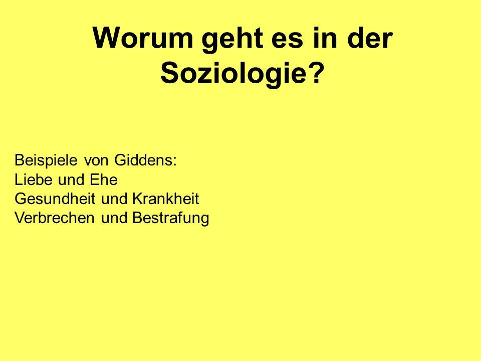 Worum geht es in der Soziologie
