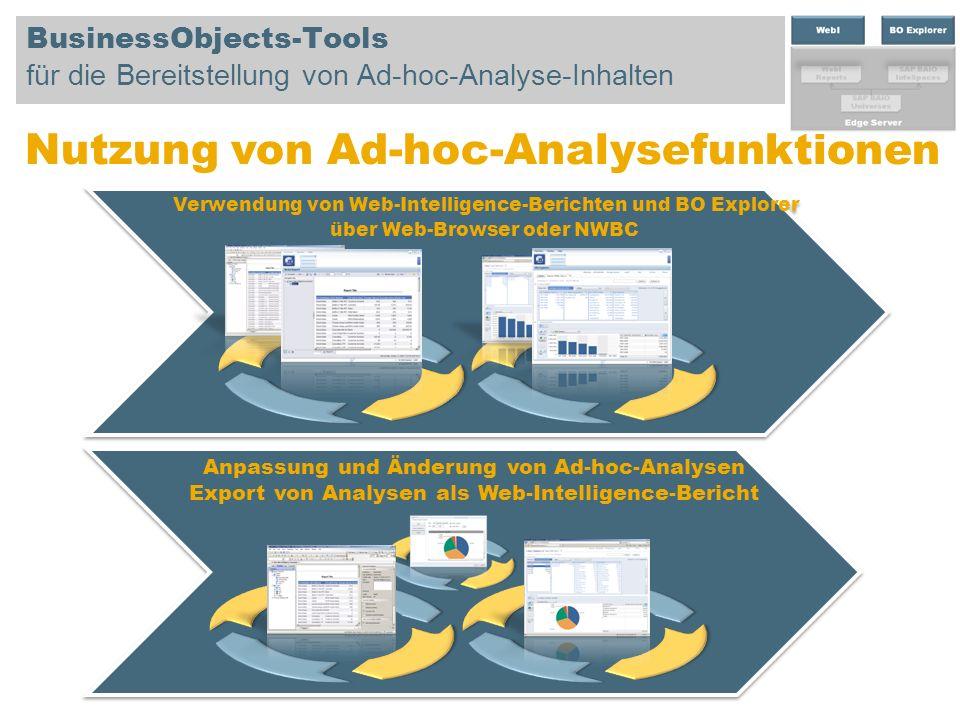 Nutzung von Ad-hoc-Analysefunktionen