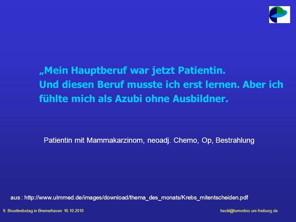 """""""Mein Hauptberuf war jetzt Patientin."""