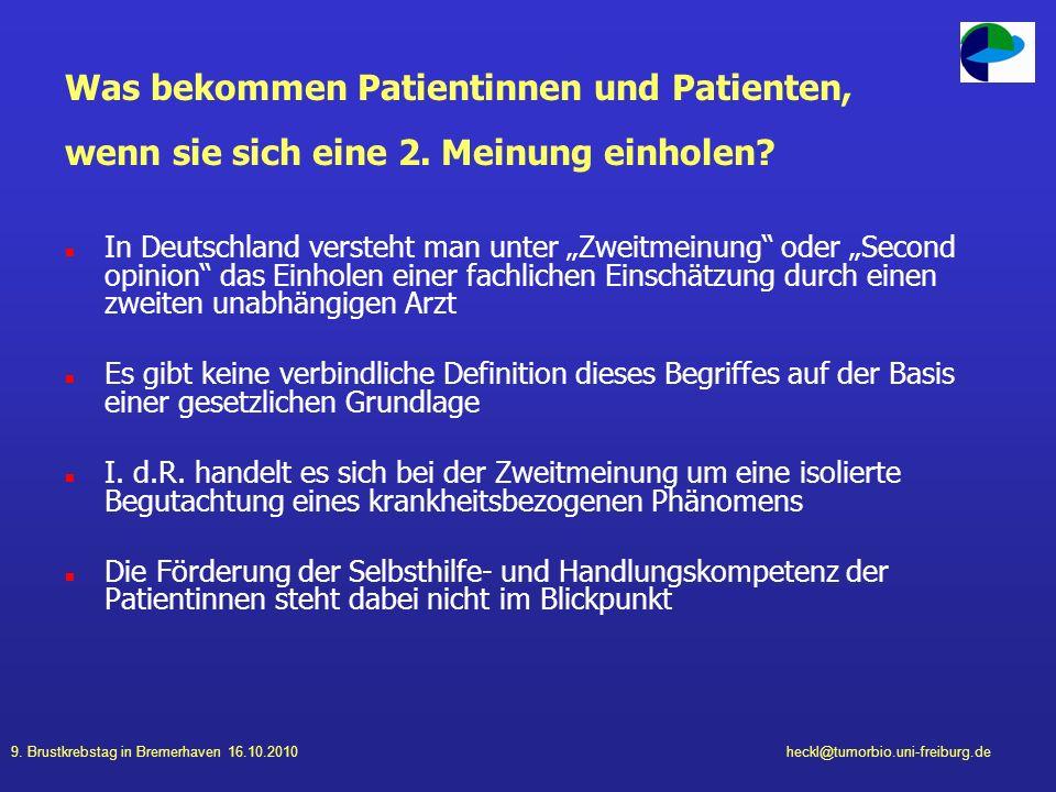 Was bekommen Patientinnen und Patienten, wenn sie sich eine 2