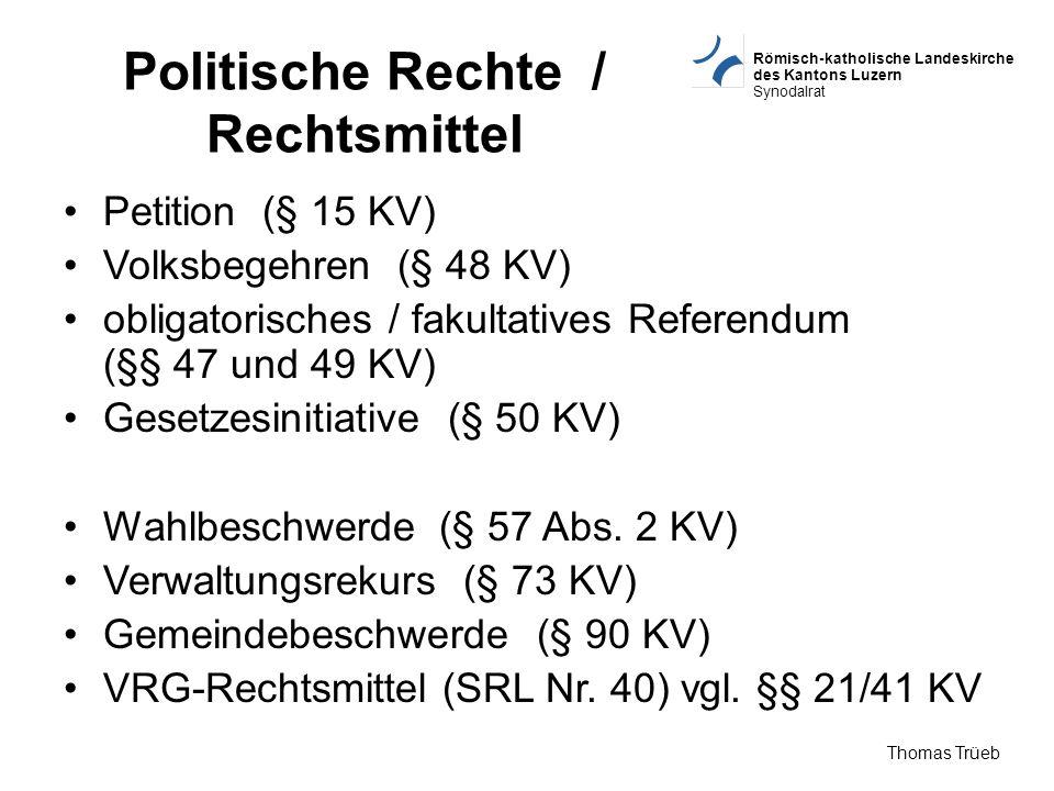 Politische Rechte / Rechtsmittel