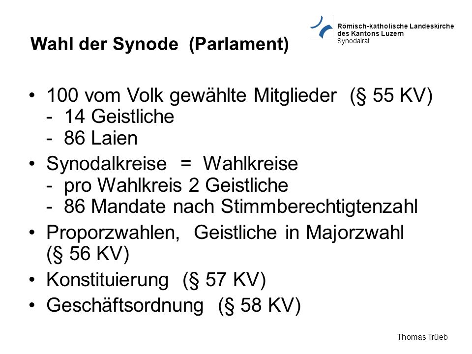 Wahl der Synode (Parlament)