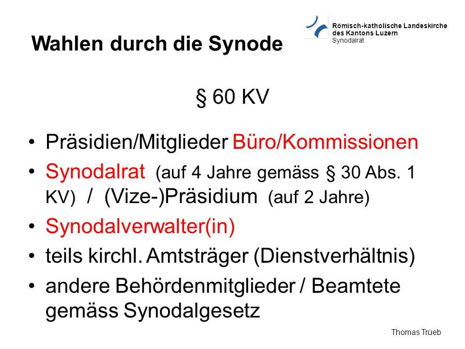 Wahlen durch die Synode