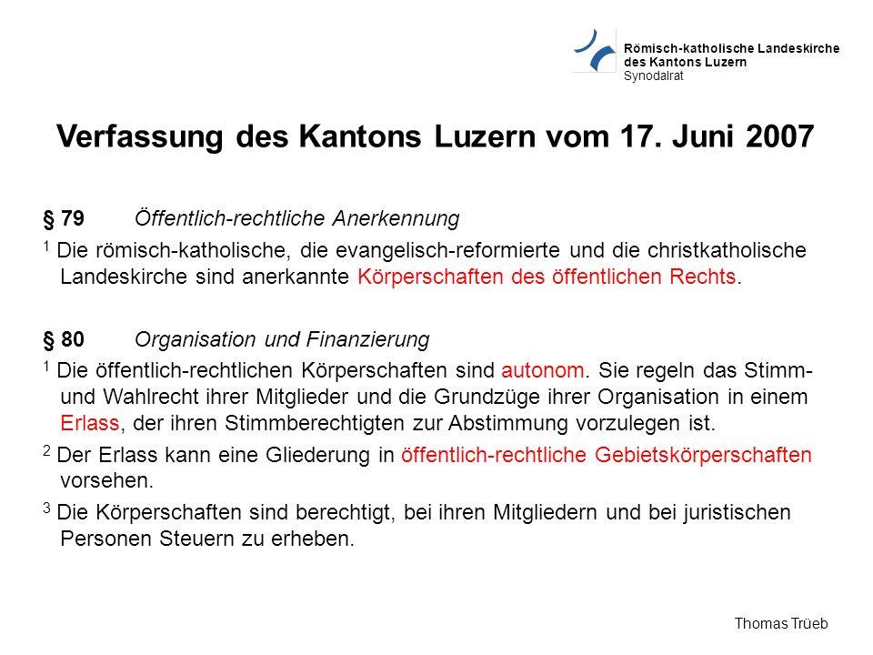 Verfassung des Kantons Luzern vom 17. Juni 2007