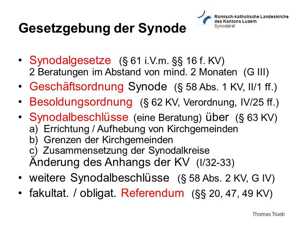 Gesetzgebung der Synode