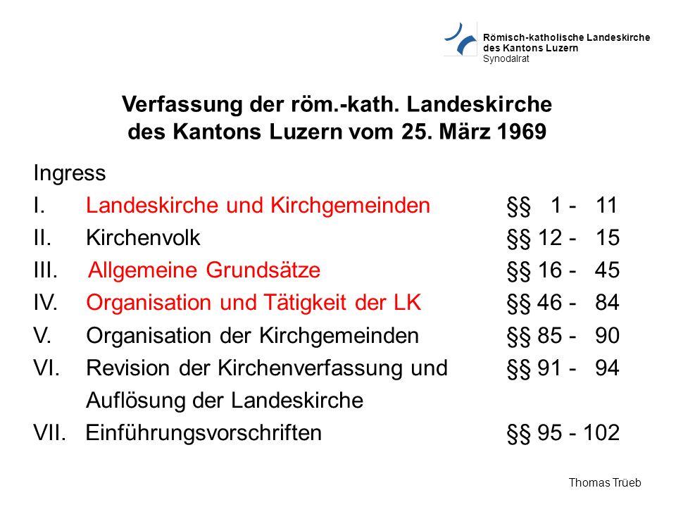 Verfassung der röm. -kath. Landeskirche des Kantons Luzern vom 25