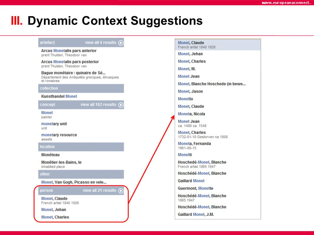 III. Dynamic Context Suggestions