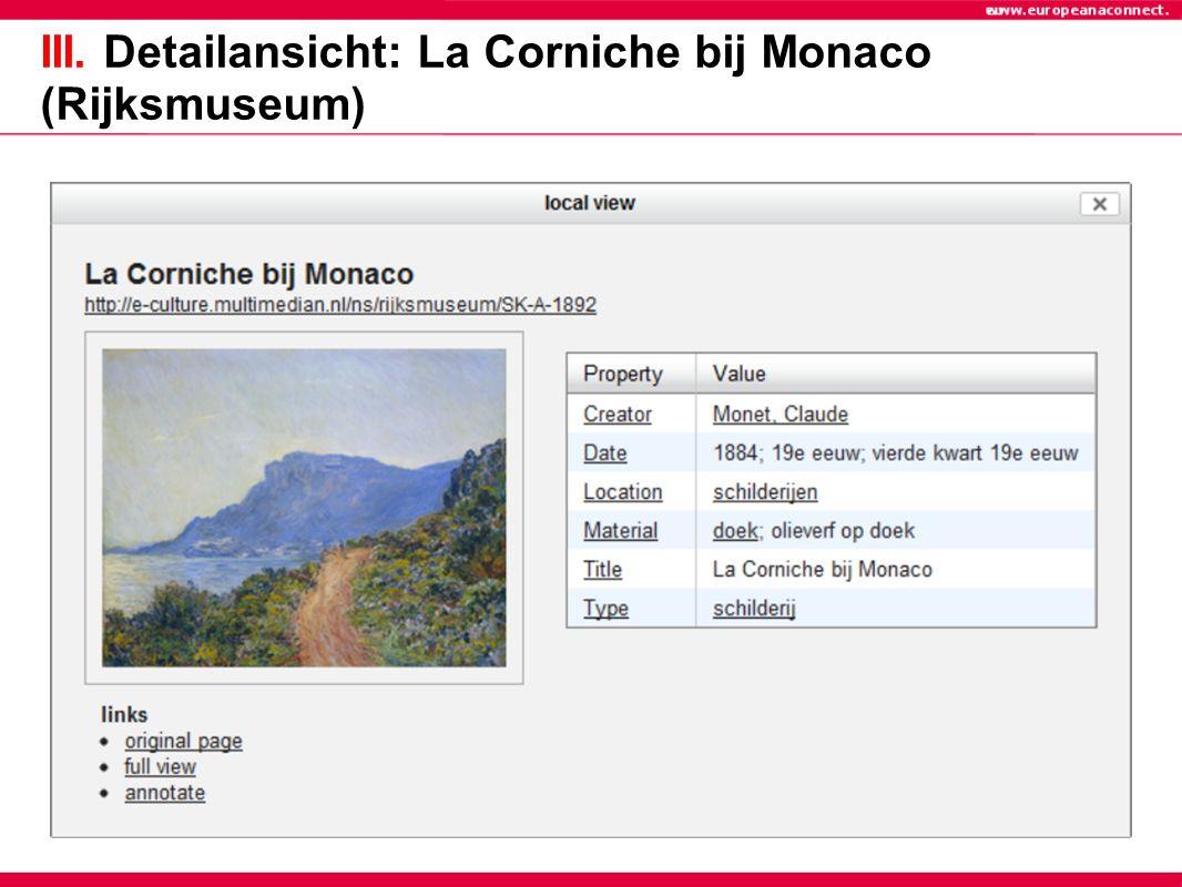 III. Detailansicht: La Corniche bij Monaco (Rijksmuseum)