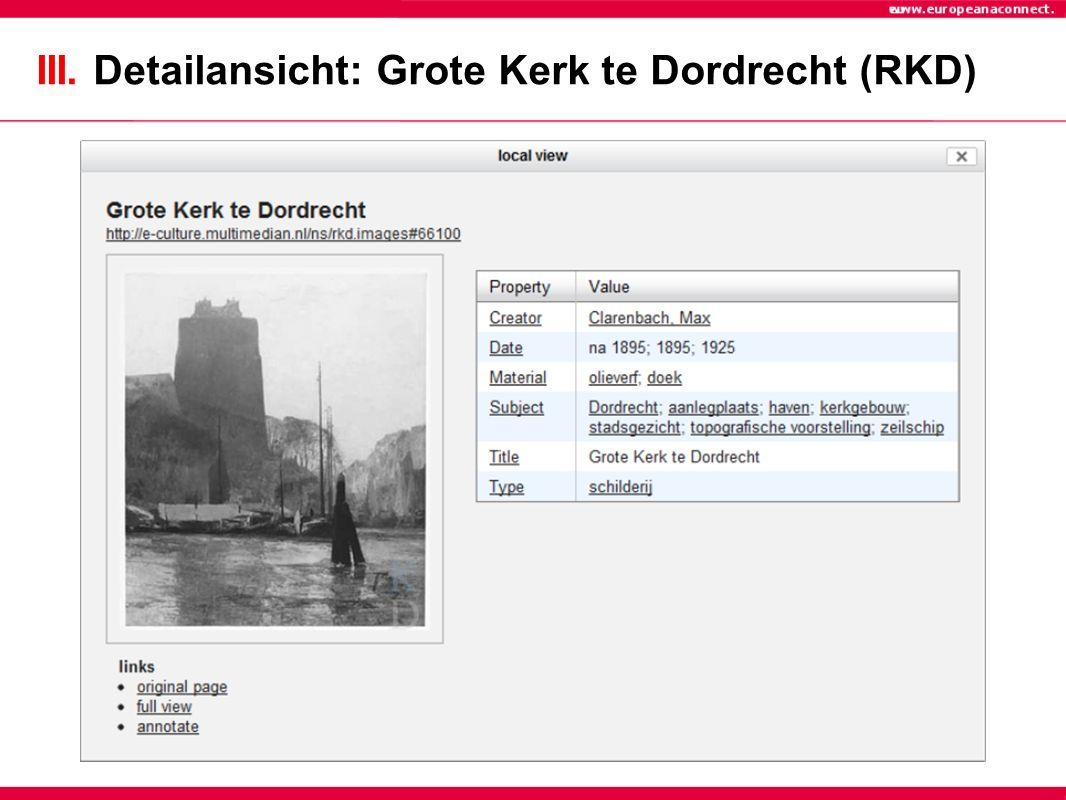 III. Detailansicht: Grote Kerk te Dordrecht (RKD)
