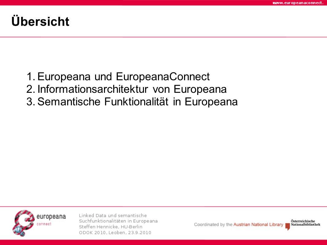 Übersicht Europeana und EuropeanaConnect