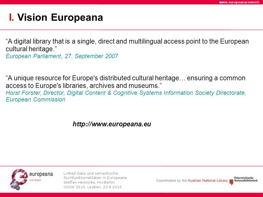 I. Vision Europeana
