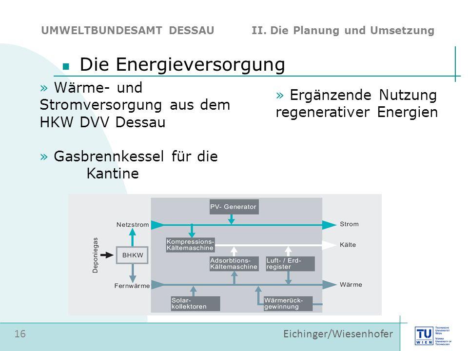 Die Energieversorgung