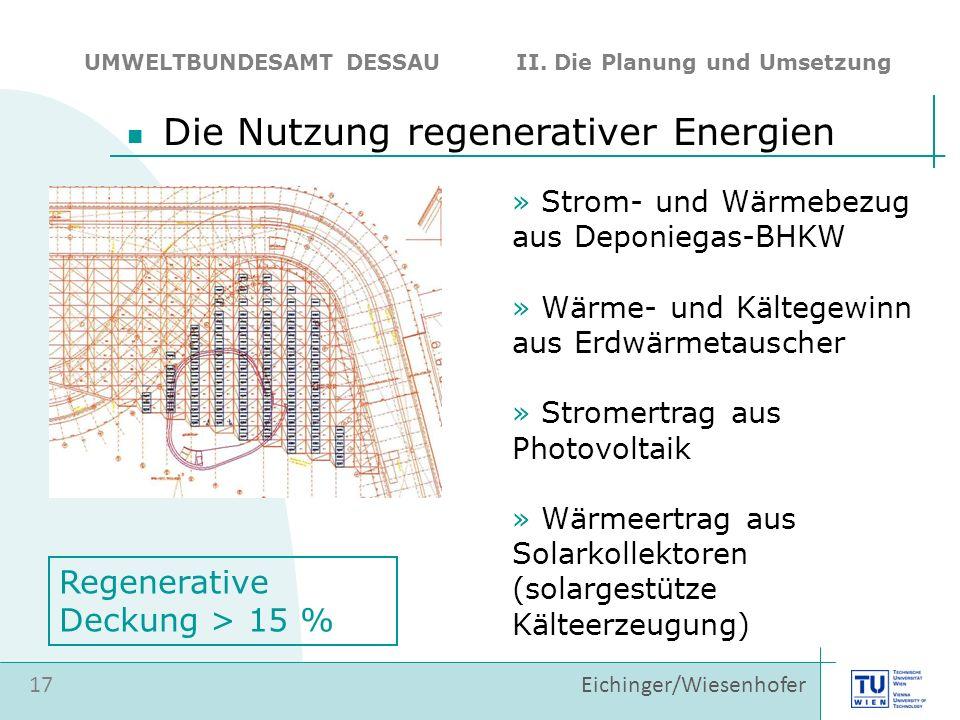 Die Nutzung regenerativer Energien