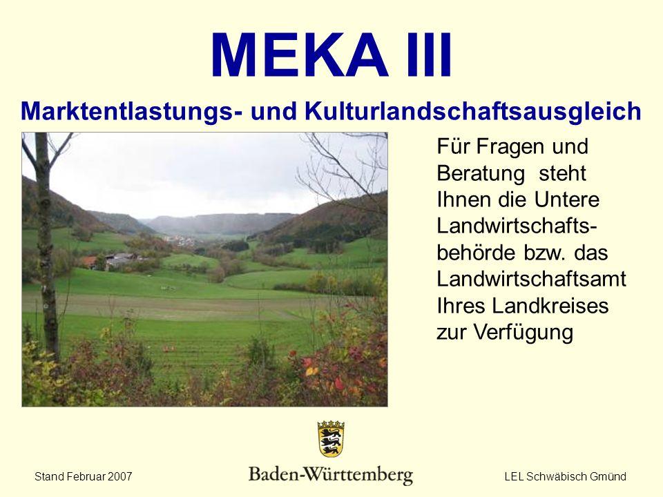 MEKA III Marktentlastungs- und Kulturlandschaftsausgleich