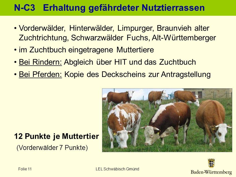 N-C3 Erhaltung gefährdeter Nutztierrassen