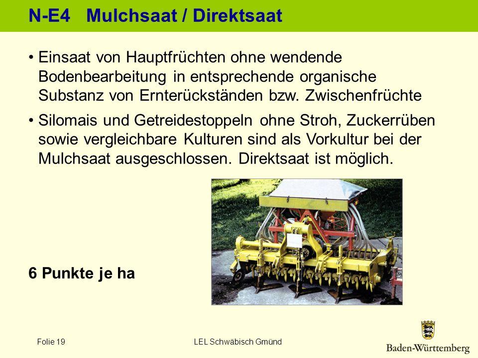 N-E4 Mulchsaat / Direktsaat