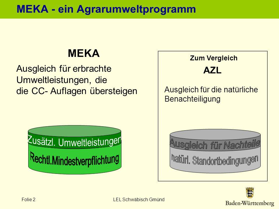 MEKA - ein Agrarumweltprogramm