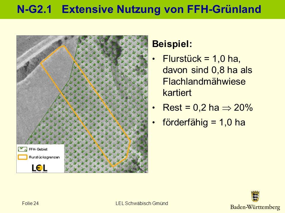 N-G2.1 Extensive Nutzung von FFH-Grünland