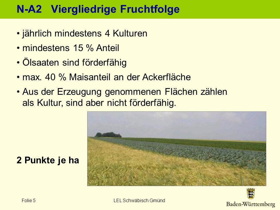 N-A2 Viergliedrige Fruchtfolge