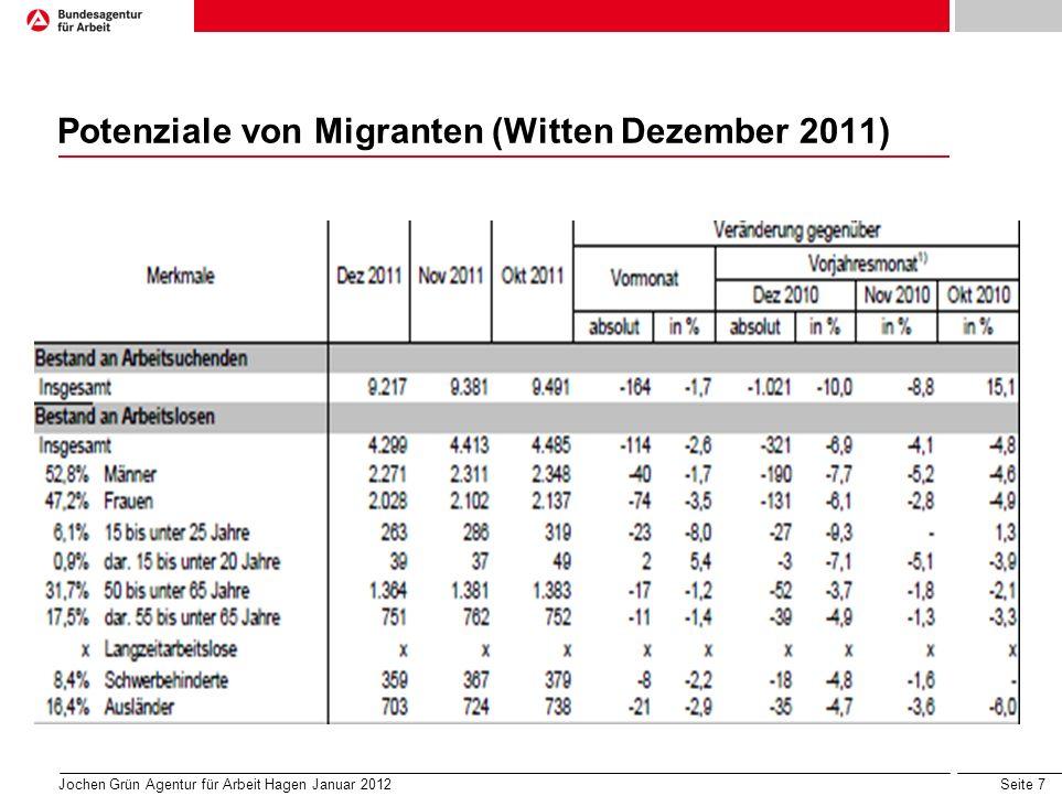 Potenziale von Migranten (Witten Dezember 2011)
