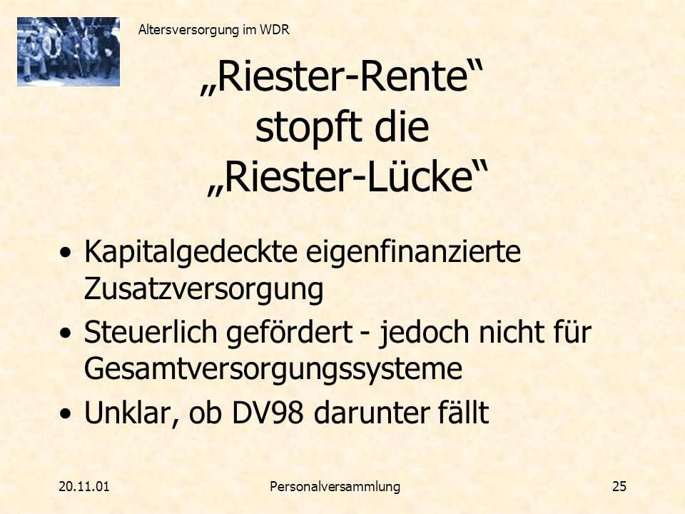"""""""Riester-Rente stopft die """"Riester-Lücke"""