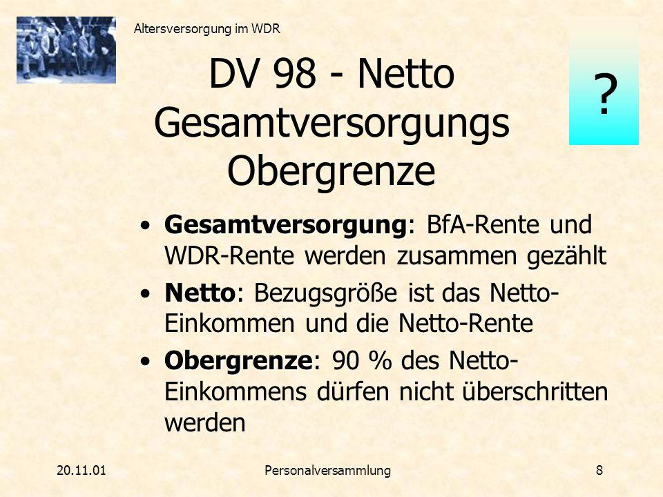 DV 98 - Netto Gesamtversorgungs Obergrenze