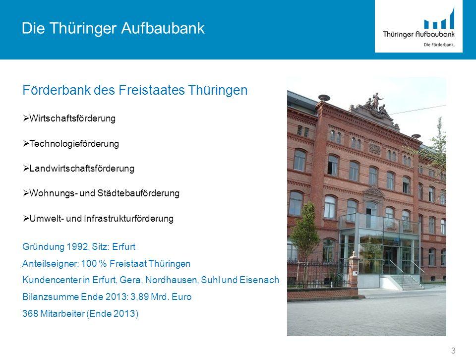 Die Thüringer Aufbaubank