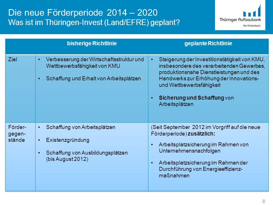 Die neue Förderperiode 2014 – 2020