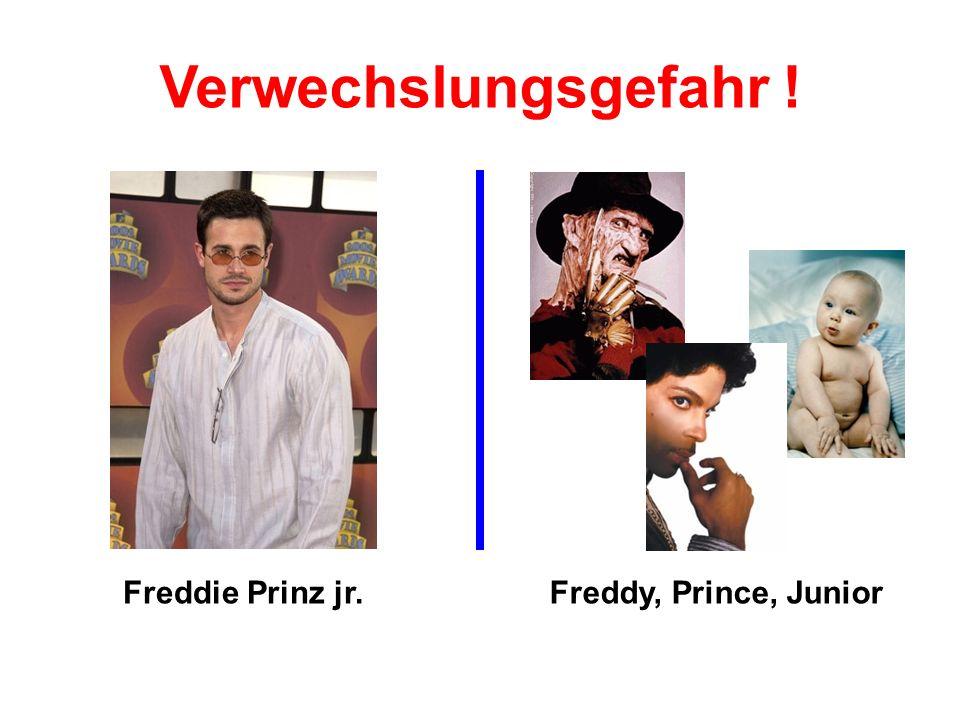 Verwechslungsgefahr ! Freddie Prinz jr. Freddy, Prince, Junior
