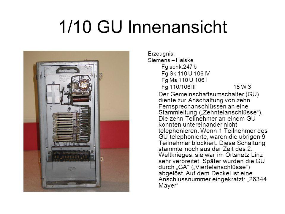 1/10 GU Innenansicht Erzeugnis: Siemens – Halske Fg schk.247 b