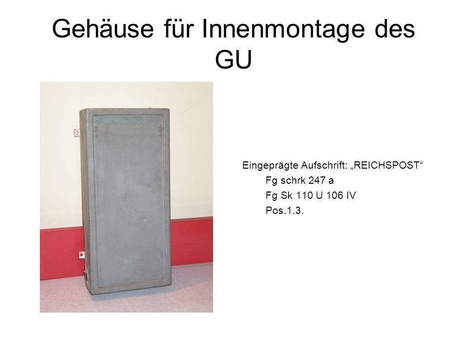 Gehäuse für Innenmontage des GU