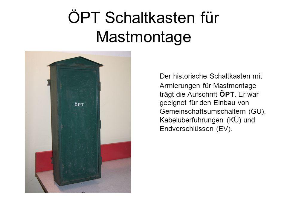ÖPT Schaltkasten für Mastmontage