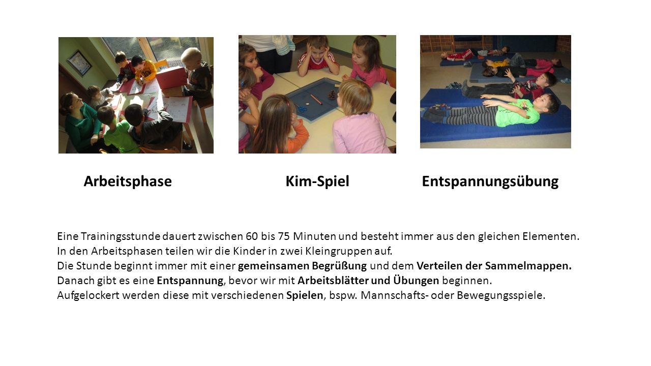 Arbeitsphase Kim-Spiel Entspannungsübung