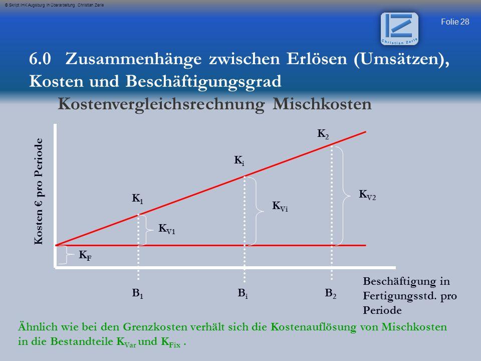Kostenvergleichsrechnung Mischkosten