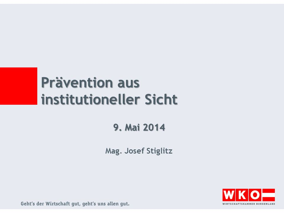 Prävention aus institutioneller Sicht