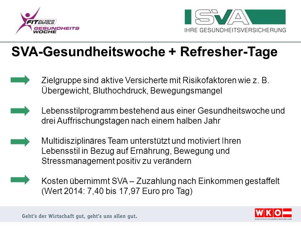 SVA-Gesundheitswoche + Refresher-Tage