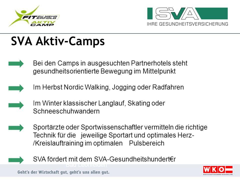 SVA Aktiv-Camps Im Herbst Nordic Walking, Jogging oder Radfahren