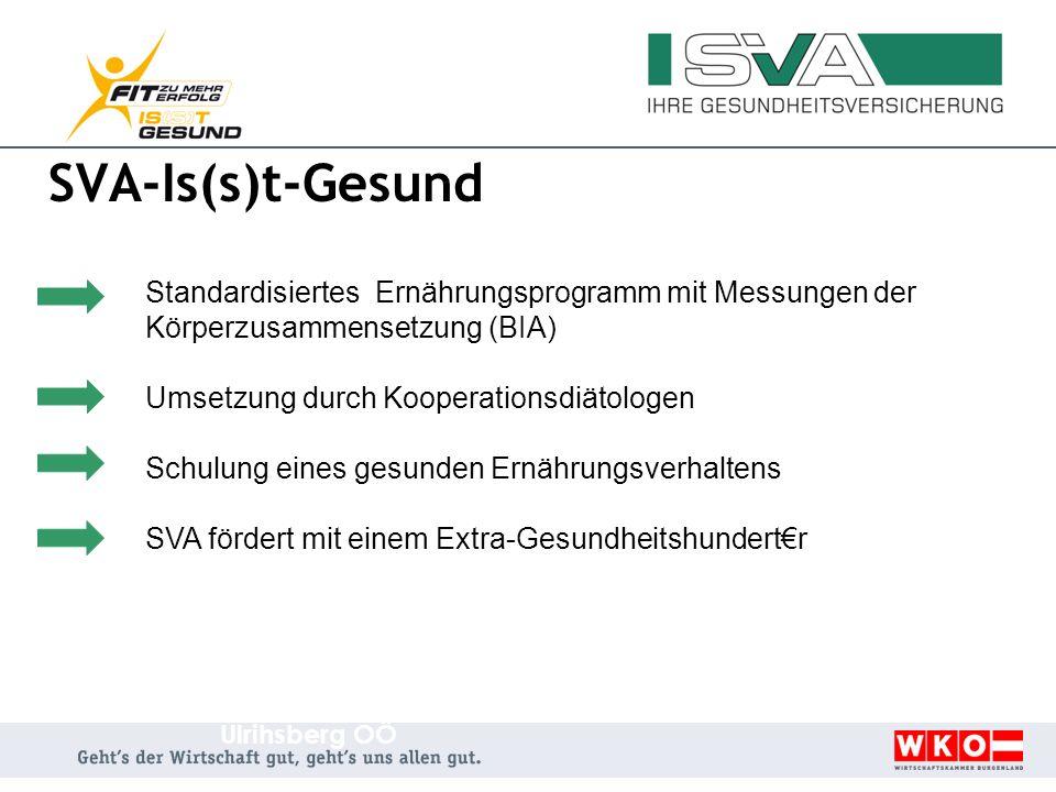 SVA-Is(s)t-Gesund Umsetzung durch Kooperationsdiätologen