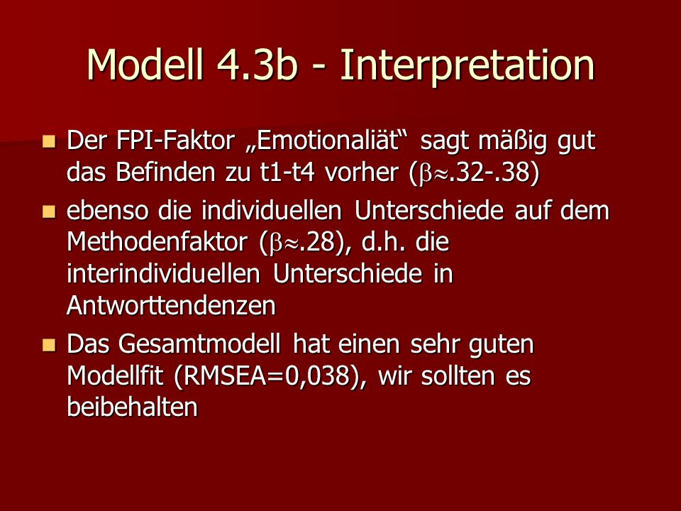 Modell 4.3b - Interpretation