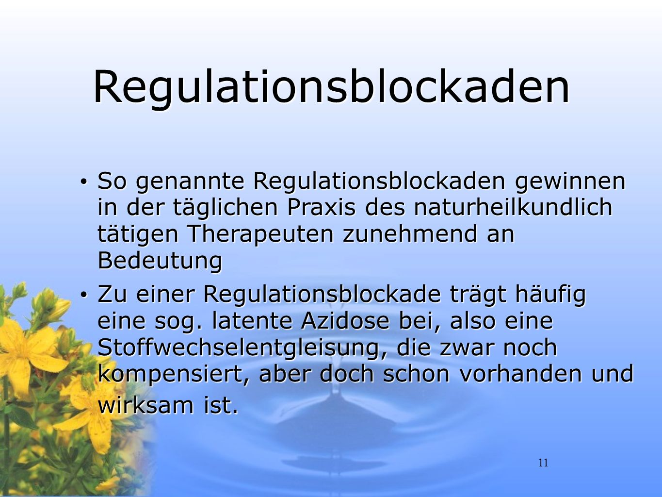 Regulationsblockaden